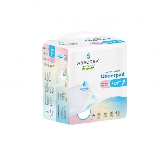 Absorba Nateen Soft Underpads, 75cm x 75cm (10pcs/pack)