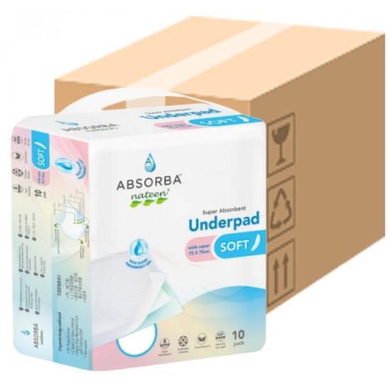 Absorba Nateen SOFT Underpad 75cmx75cm, (10pack/carton)