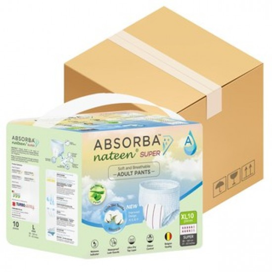Absorba Nateen SUPER Adult Pull Up Pants, 8bags/carton