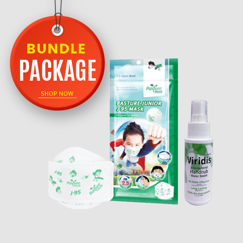 Pasture Junior Mask + Viridis Anti-Bacterial Hand Rub 60ml