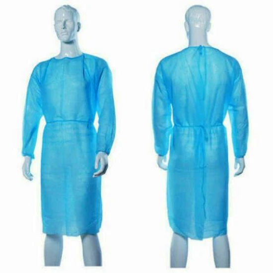Isolation gown- with Cuff, Water Repellent, 45gsm, 10pcs/pack-Isomecx
