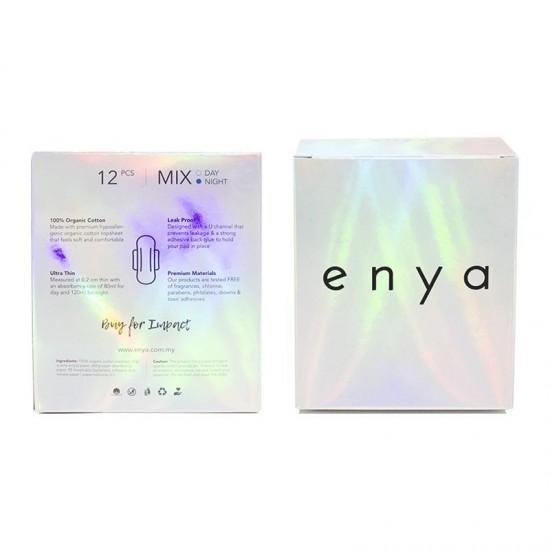 Enya Premium Organic Sanitary Pads (100% ORGANIC), 6 Days & 6 Nights, 12pcs