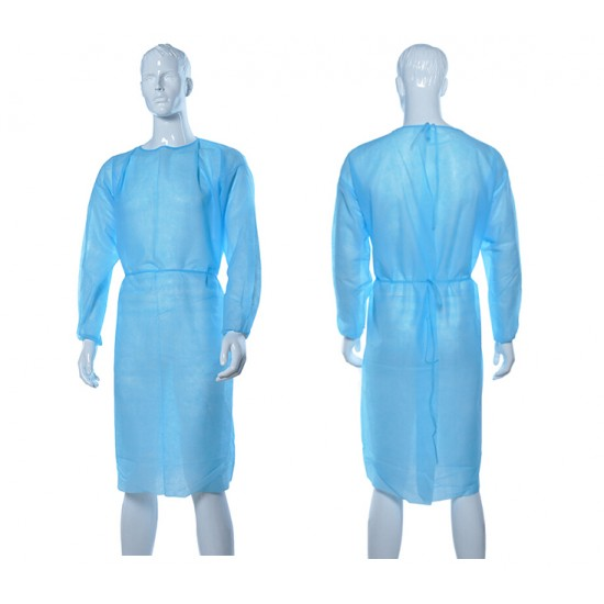 Isomecx- Isolation Gown, With Cuff, Water Repellent, PP+PE, 45gsm, 10pcs/pack