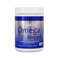 MegaLive Omega 600/300® Enteric Coated Softgel Capsules, 2 x 100capsules + 30