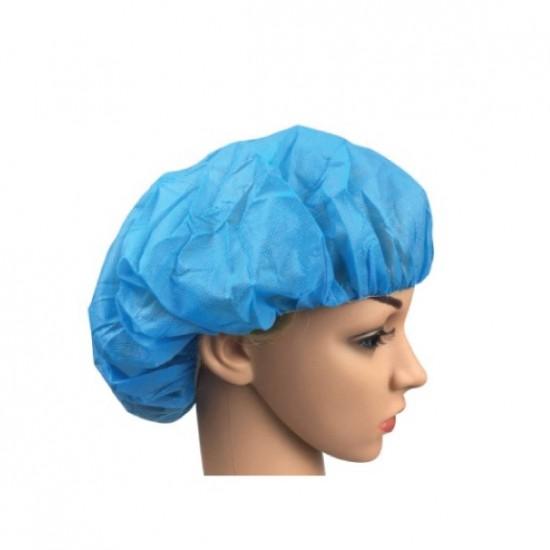 Disposable Nurse Cap / Round Cap, Blue, 100pcs/pak