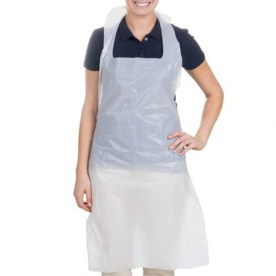 Isomecx - PE Apron, Non-Sterile, Opaque White Colour (Size: 1400x800x0.03mm) 100pcs/pack