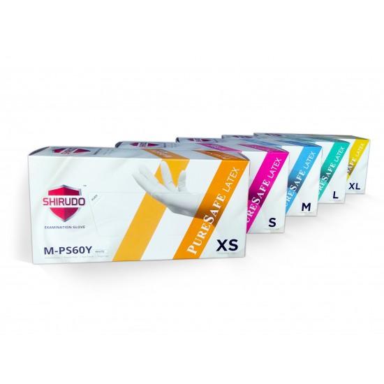 Shirudo Puresafe, Examination Powder Free Gloves, Natural, 6.0g, 100pcs/box