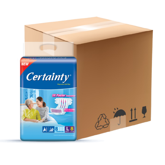 Certainty- Tape, 8bag/carton (7+1 (FREE 1BAG))